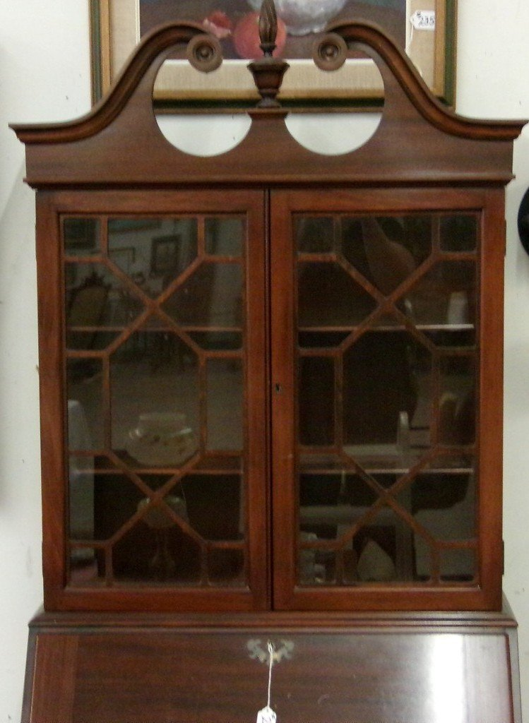 Antique Mahogany Governor Winthrop Bookcase / Secretary - 3
