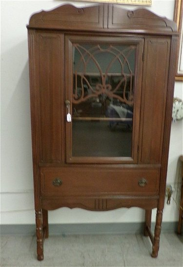 Antique China Hutch >> Antique China Cabinet With Glass Door Over A One Drawer