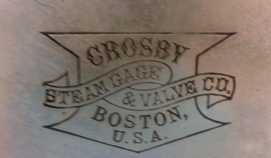 Large Crosby Steam Gauge & Valve Co, Boston, USA< Brass - 3