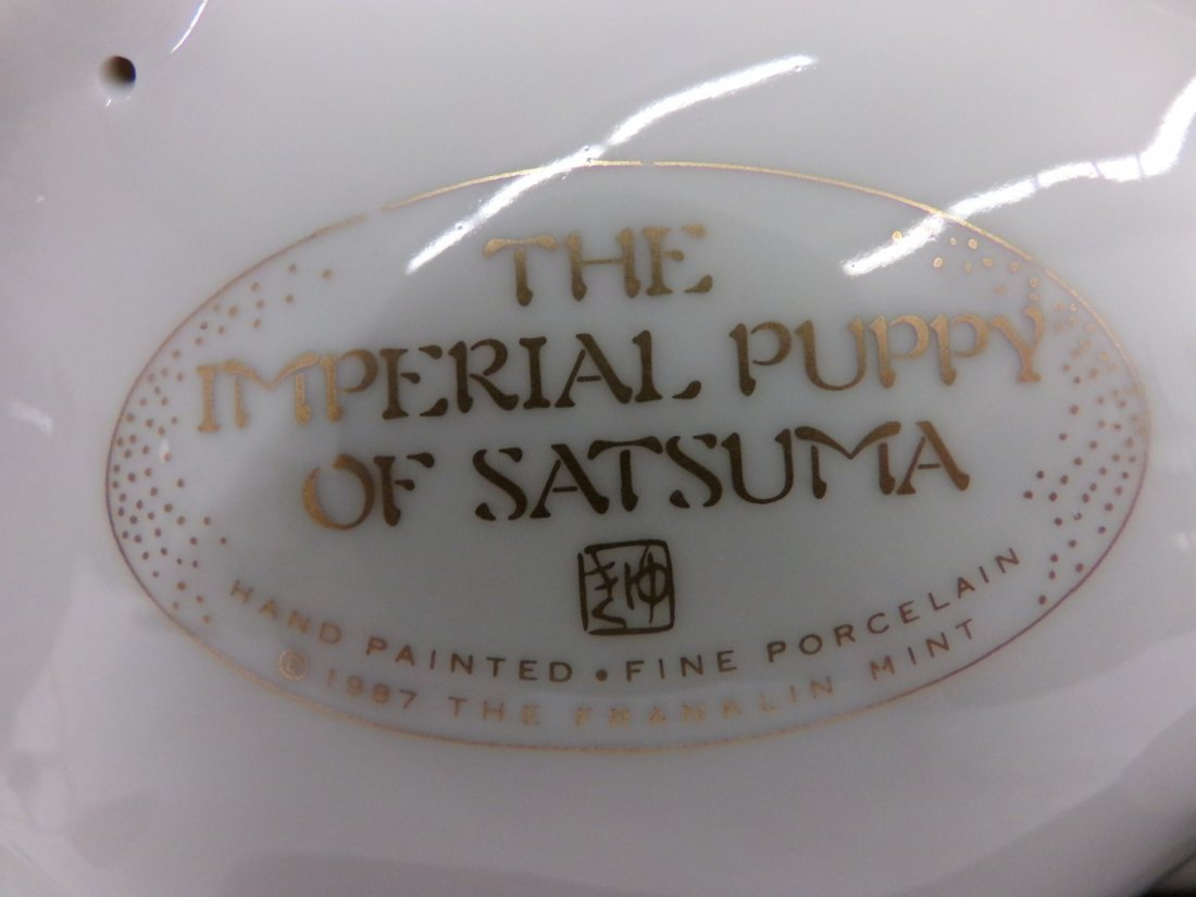 Imperial Puppy of Satsuma. Reproduced by the Franklin - 8