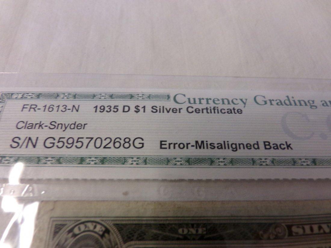 CGA Graded Fr1613-N. 1935 $1 Silver Certificate. - 2