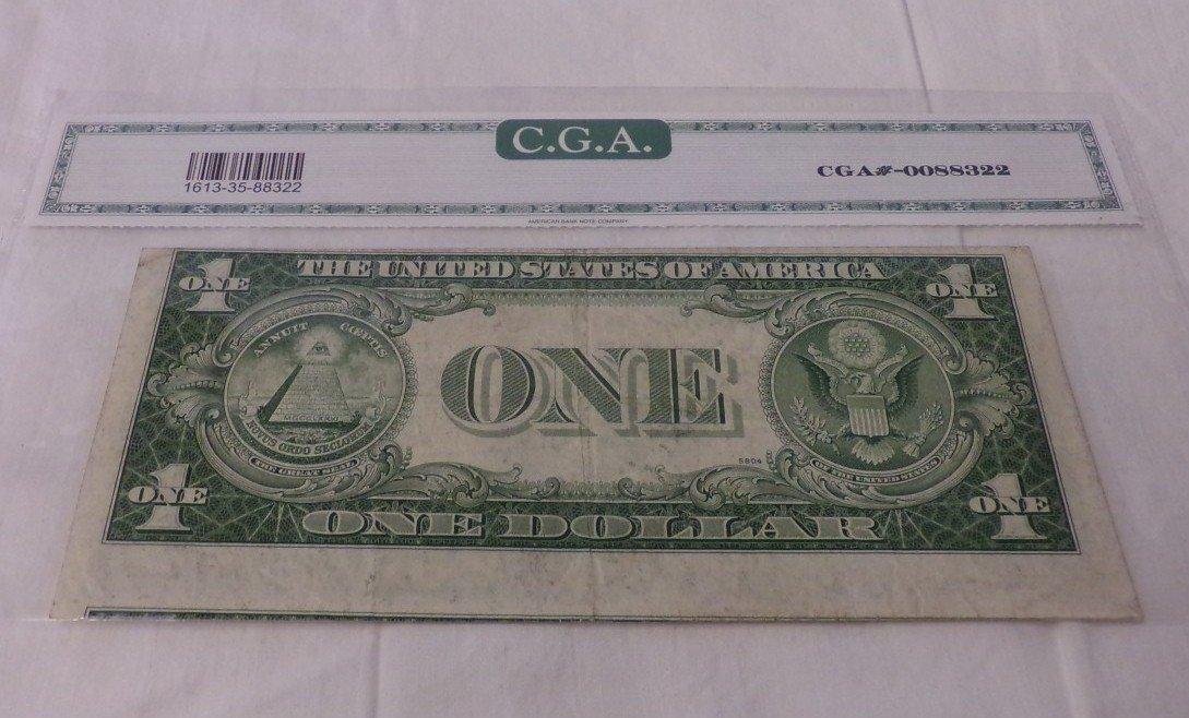 CGA Graded Fr1613-N. 1935 $1 Silver Certificate. - 6