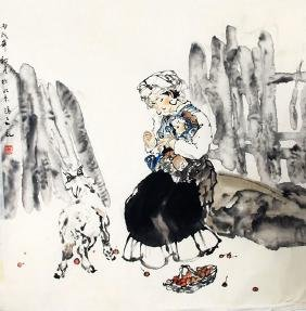 ZHANG HONG FEI CHINESE PAINTING (ATTRIBUTED TO )
