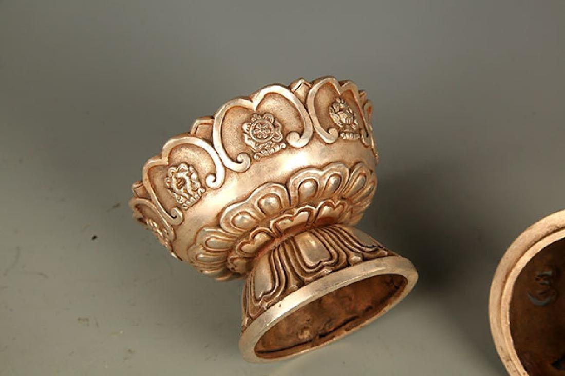 A FINELY CARVED TIBETAN BRONZE AROMATHERAPY - 7
