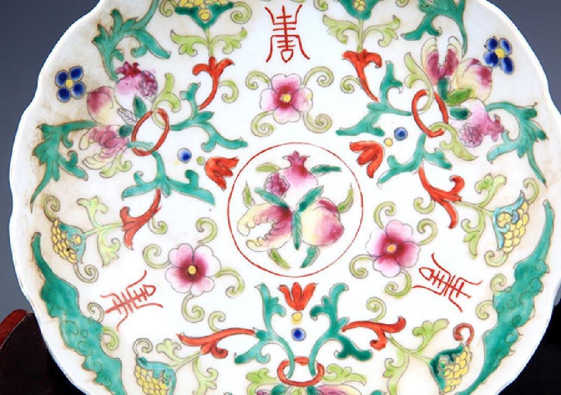 PAIR OF FAMILLE ROSE PORCELAIN PLATE - 7