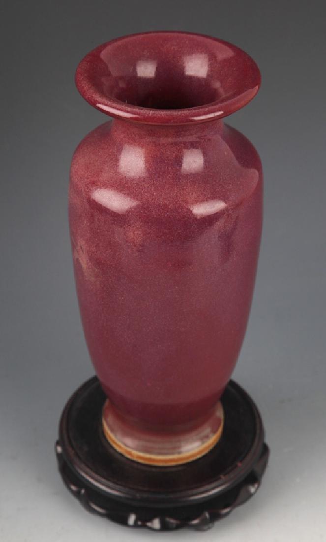 A LARGE RED COLOR PORCELAIN JAR - 4