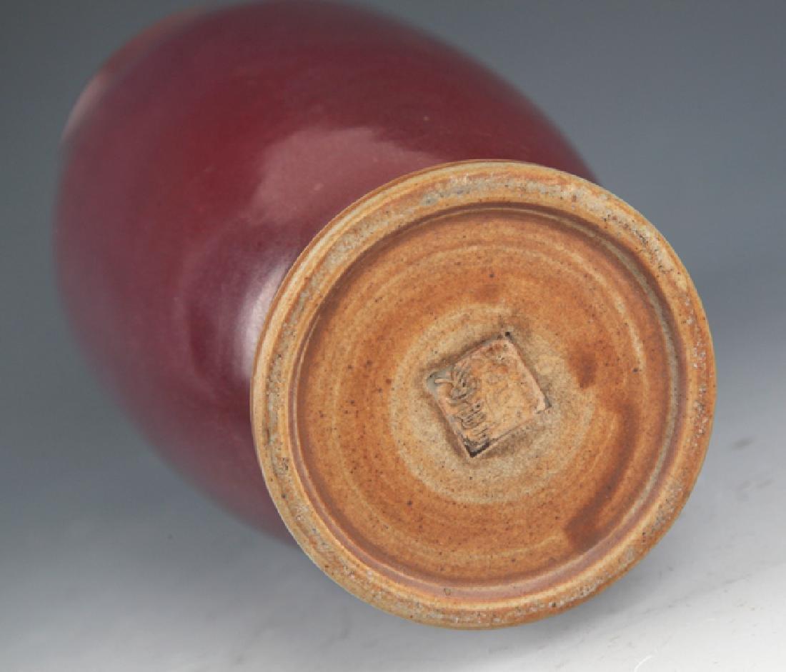 A LARGE RED COLOR PORCELAIN JAR - 5