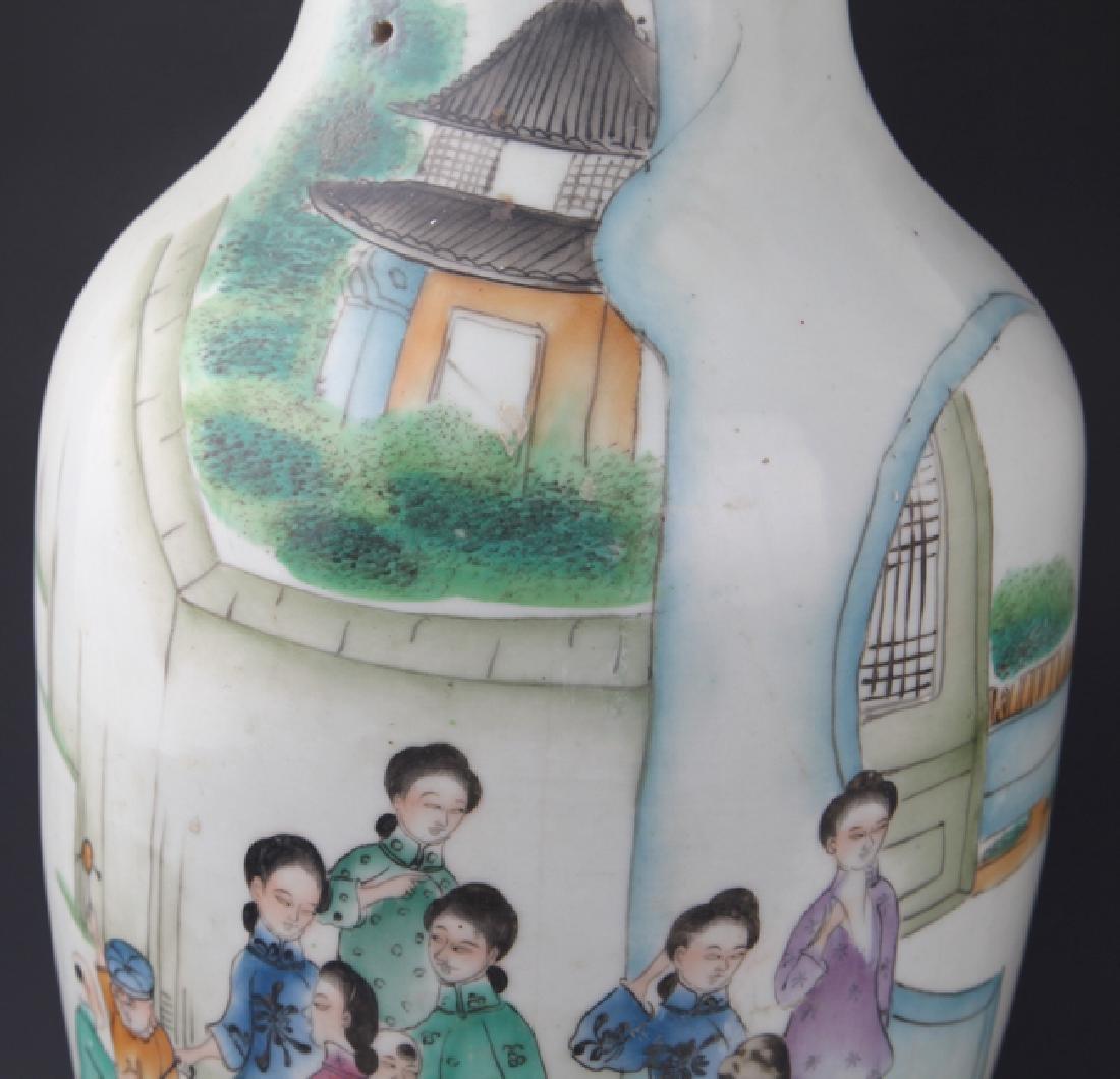 PAIR OF FAMILLE-ROSE PORCELAIN JAR - 5