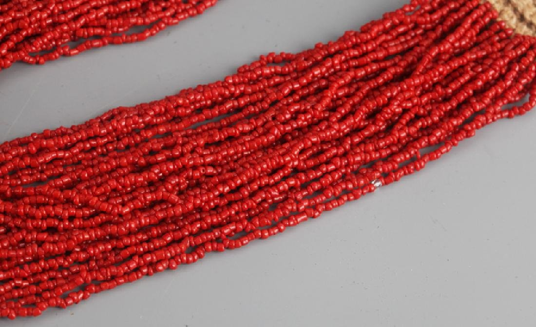 A CORAL NECKLACE WITH TURQUOISE - 5