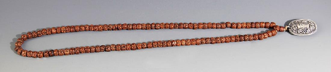A FINE JIN GANG PU TI NECKLACE WITH PENDANT - 2
