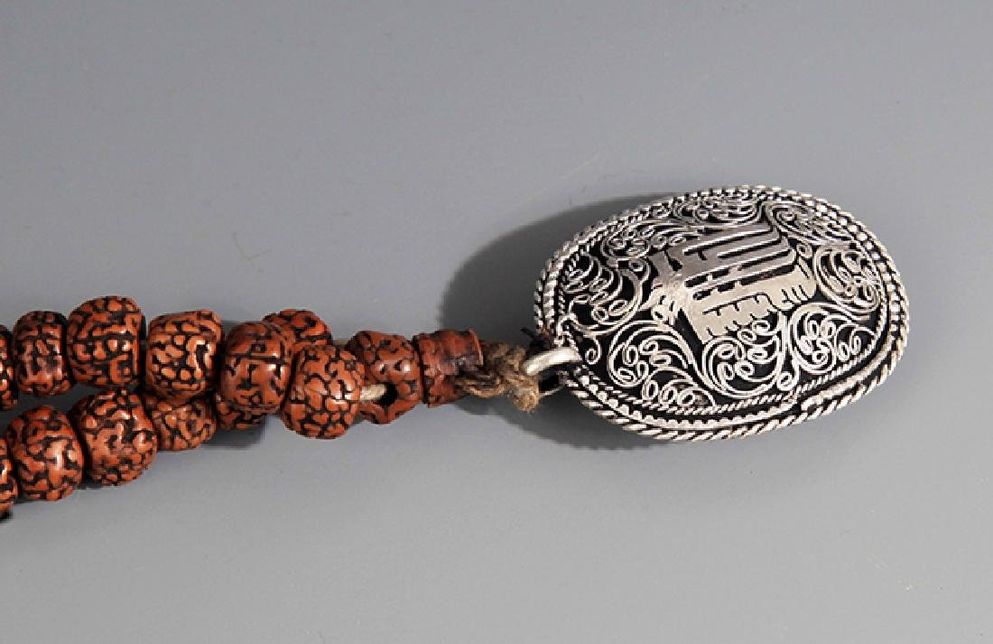 A FINE JIN GANG PU TI NECKLACE WITH PENDANT - 6