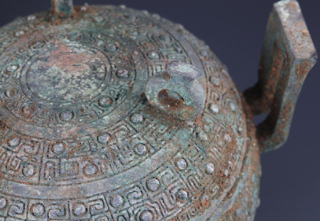 COPY OF TWO OLD CHINESE BRONZE VASE - 7