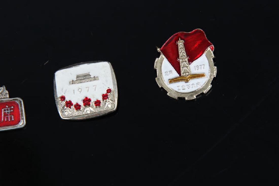 GROUP OF 11 OLD CHINESE BADGE - 5