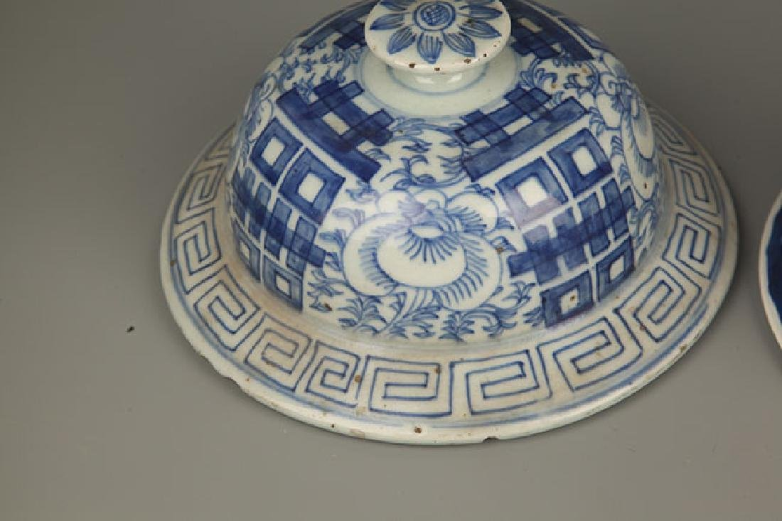 BLUE AND WHITE FLOWER PATTERN GENERAL JAR COVER - 5