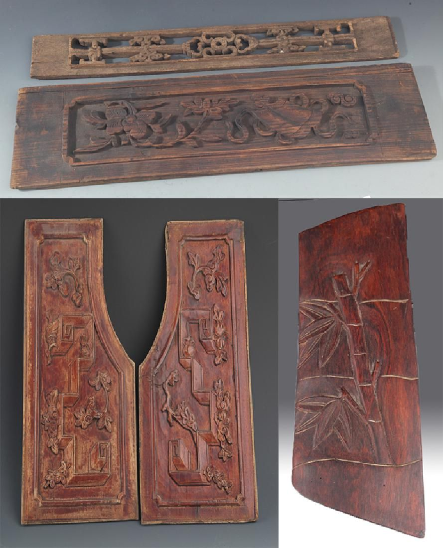 GROUP OF OLD FINLY CARVED WOODEN BOARD