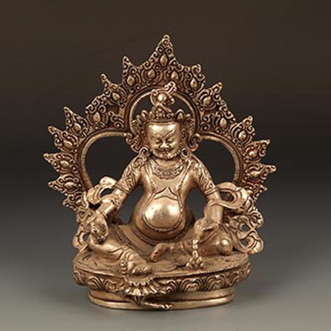 A FINE TIBETAN BUDDHA WITH HOLLOW