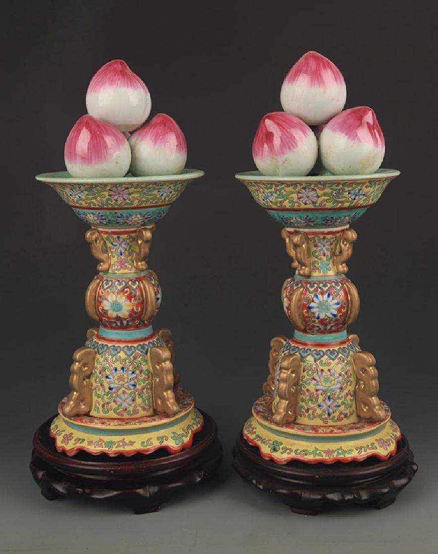 A Enamel Color Gilt Longevity Peach Decoration