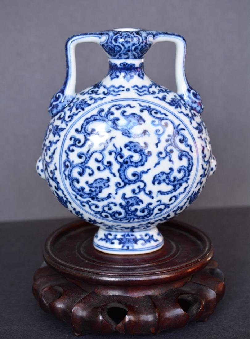 A BLUE AND WHITE MOONFLASK - 3