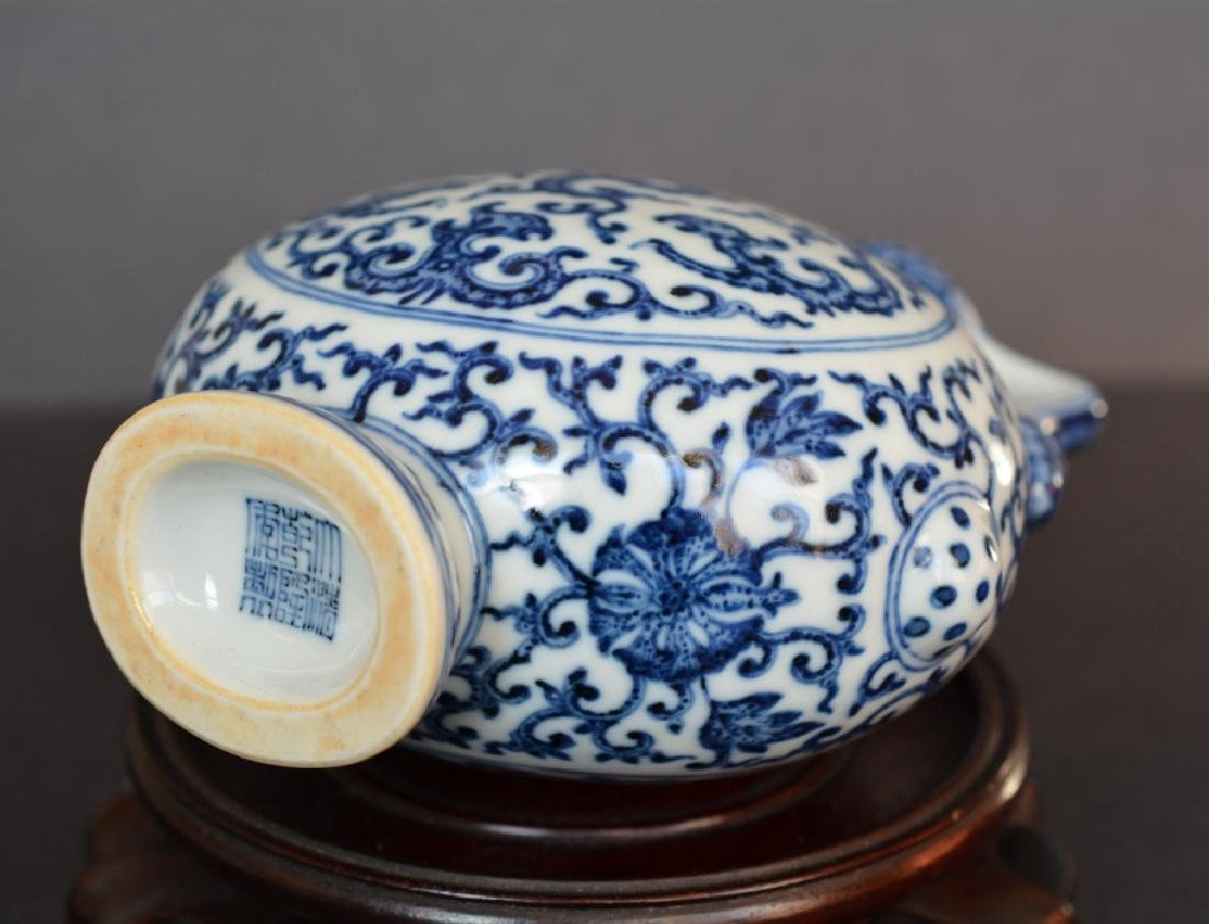 A BLUE AND WHITE MOONFLASK - 7
