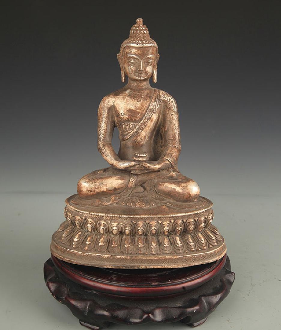 A Silver Cover Medicine Buddha