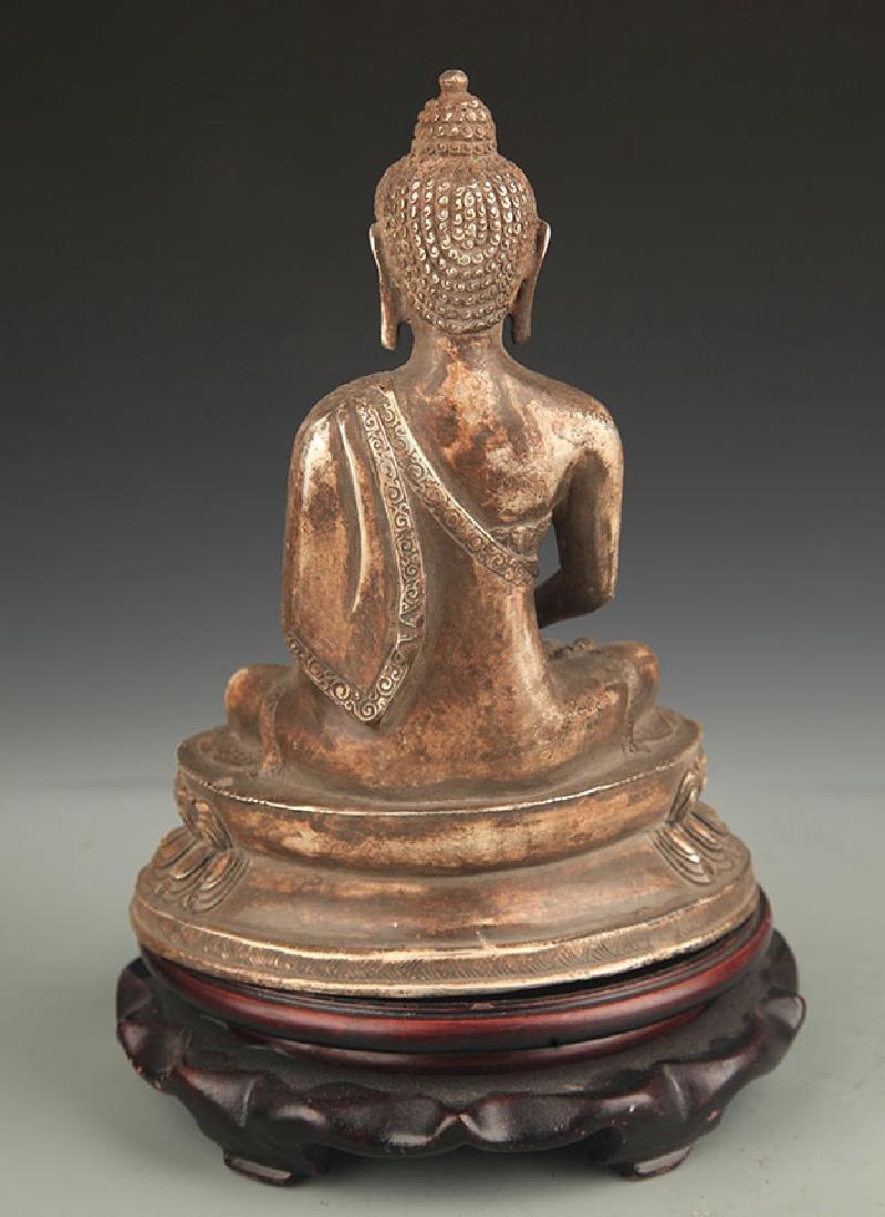 A Silver Cover Medicine Buddha - 4