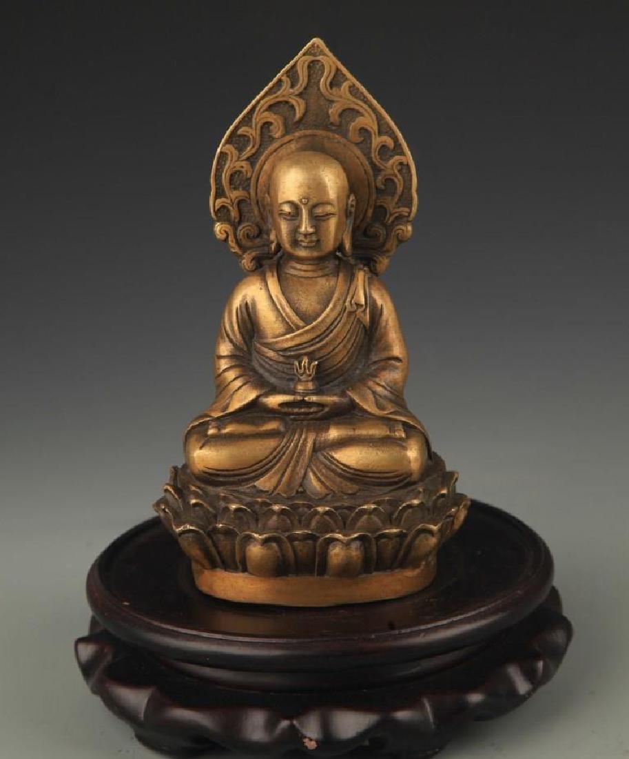 A Bronze Kshitigarbha Statue