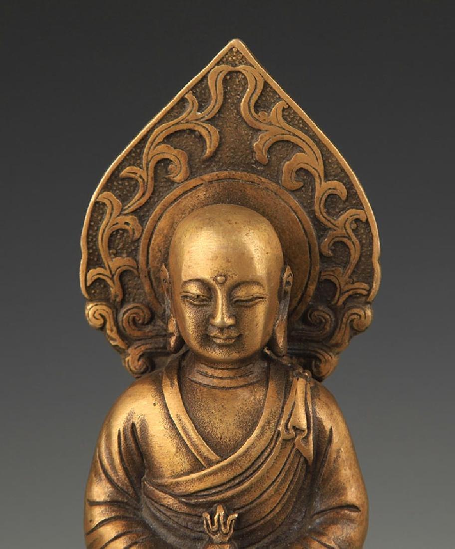 A Bronze Kshitigarbha Statue - 2
