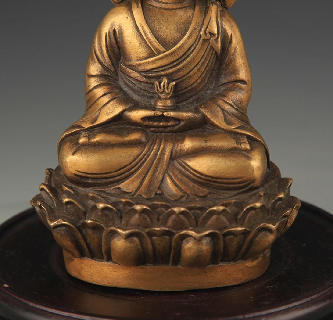 A Bronze Kshitigarbha Statue - 3