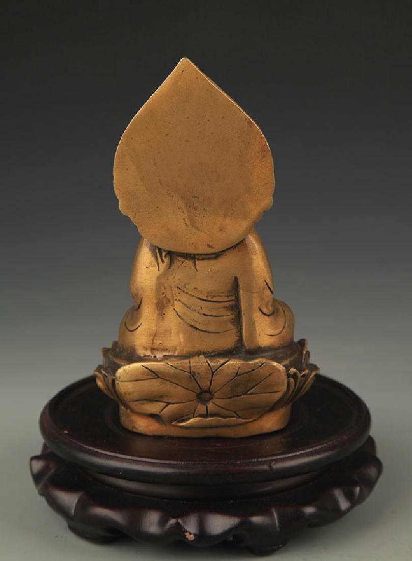 A Bronze Kshitigarbha Statue - 4