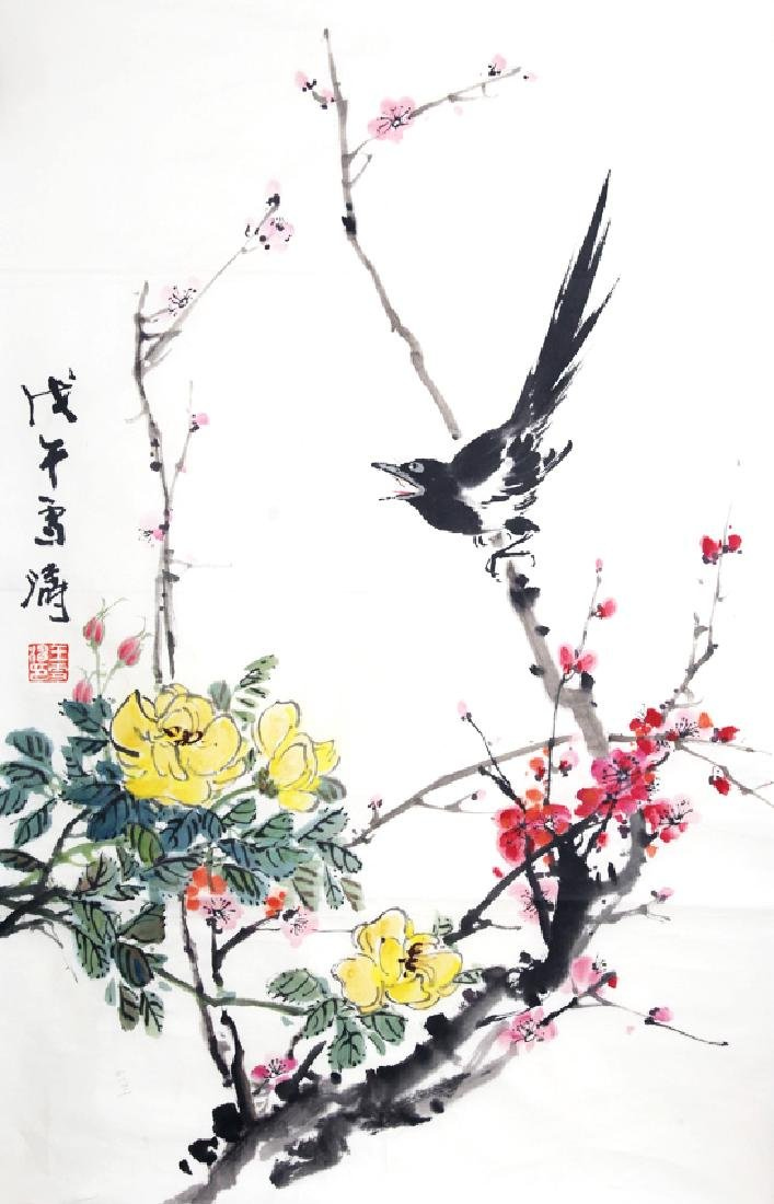 A FINE CHINESE PAINTING ATTRIBUTED TO, WANG XUE TAO