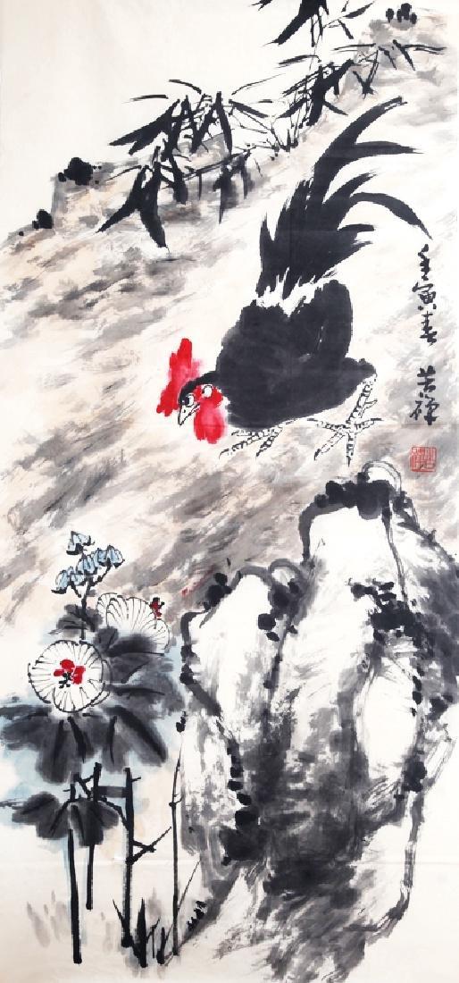 A FINE CHINESE PAINTING ATTRIBUTED TO, LI KU CHAN