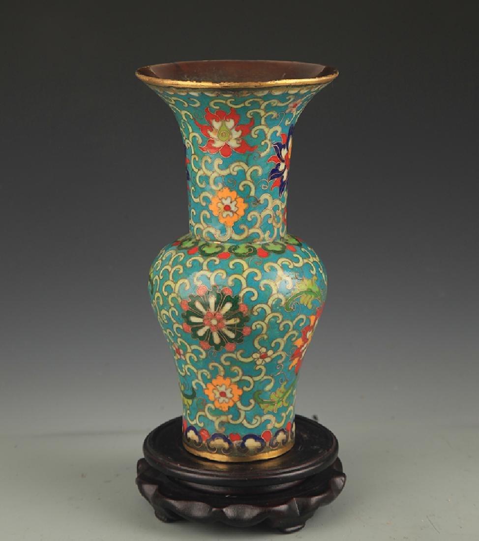 A Large Cloisonne Enamel Flower Vase