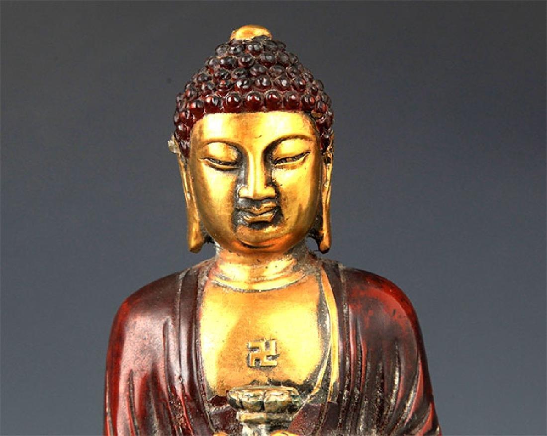 A Tall Gilt Bronze Bhaisayyagaru Buddha - 2