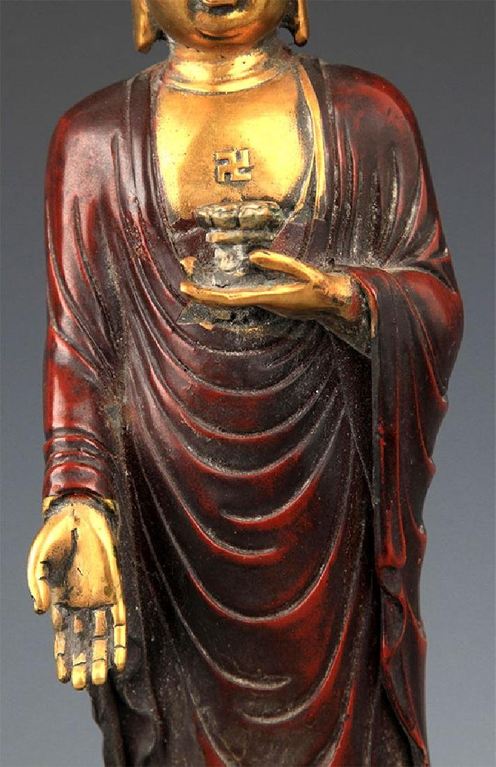 A Tall Gilt Bronze Bhaisayyagaru Buddha - 3