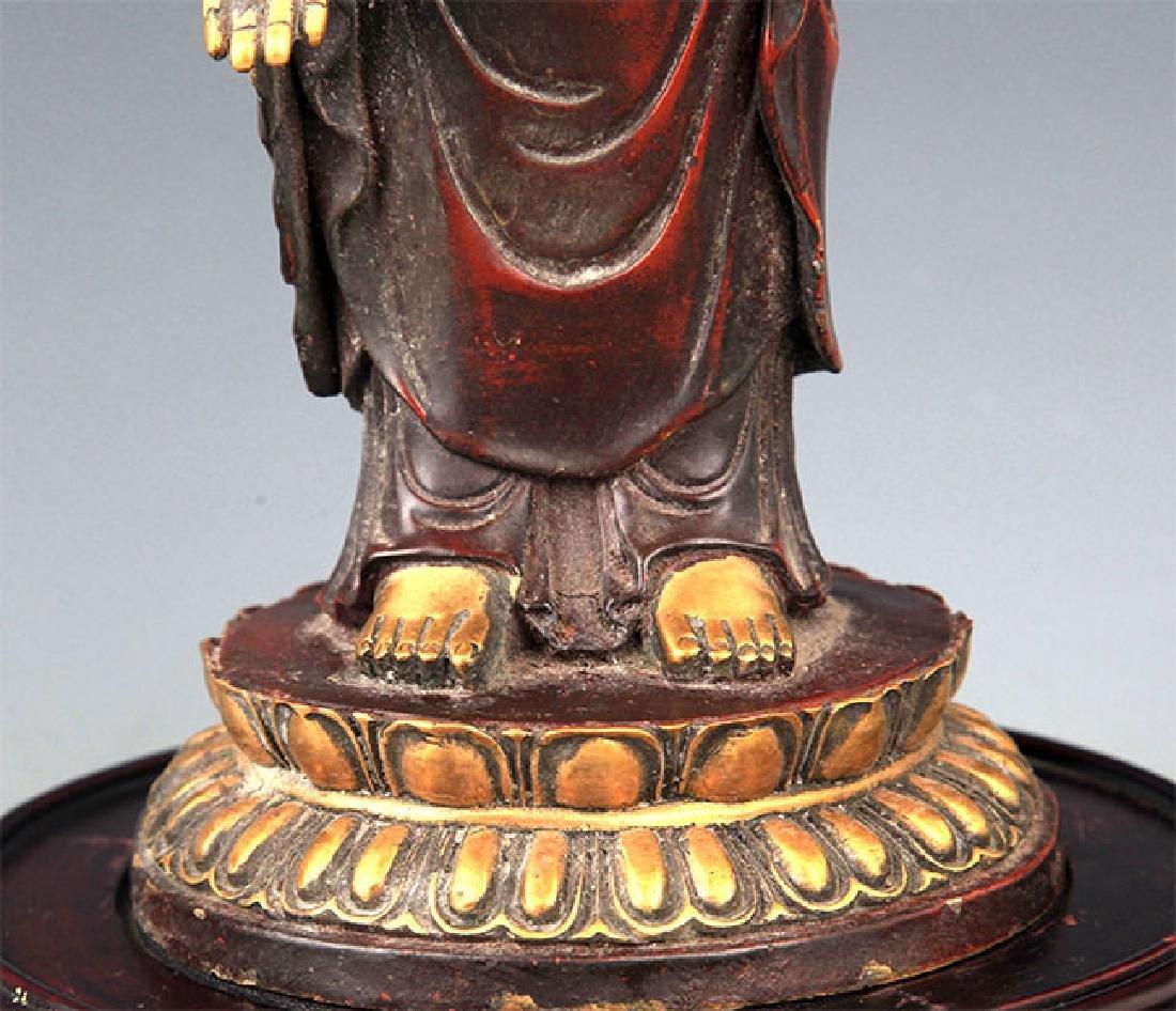 A Tall Gilt Bronze Bhaisayyagaru Buddha - 4