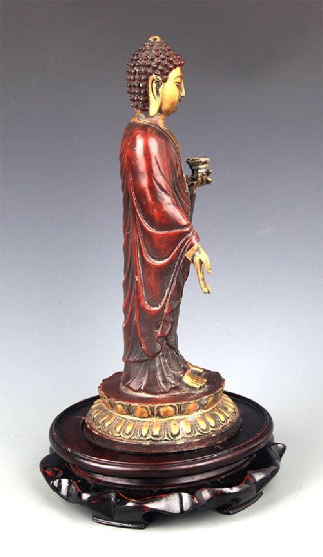 A Tall Gilt Bronze Bhaisayyagaru Buddha - 5