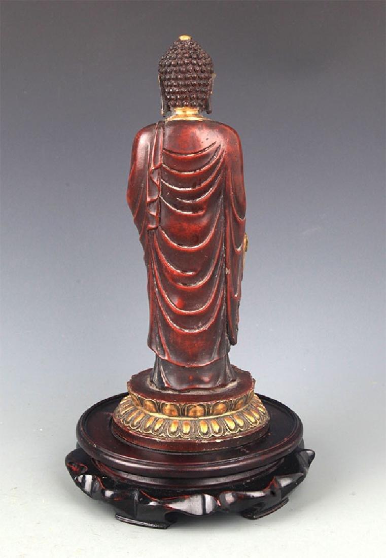 A Tall Gilt Bronze Bhaisayyagaru Buddha - 6