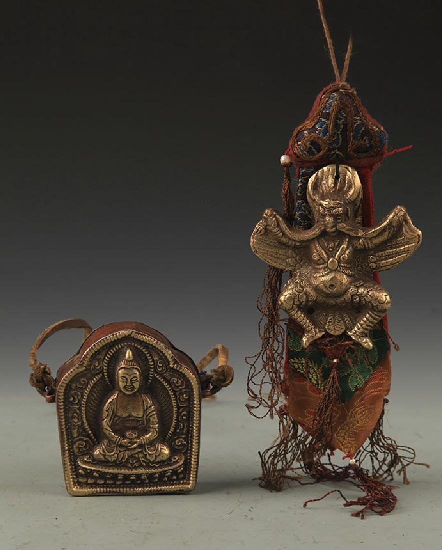 Two Tibetan Buddhism Statue Pendant