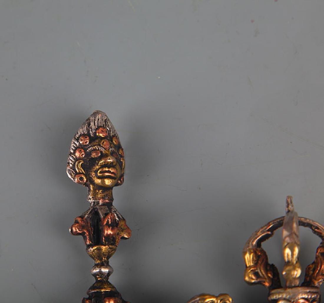 A Pair of Tibetan Vajra and Phurba - 2