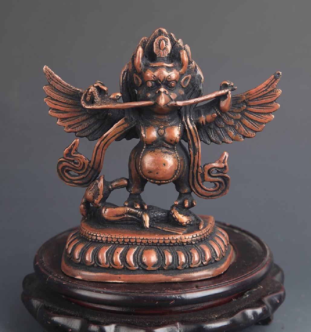 A FINE TIBETAN BUDDHISM GARUDA FIGURE