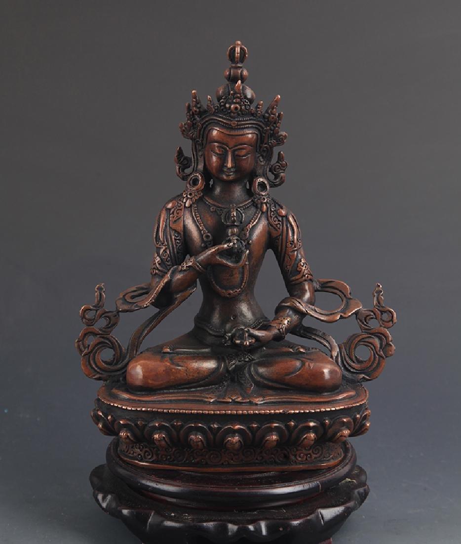 TIBETAN BUDDHISM BRONZE VAJRASATTVA FIGURE