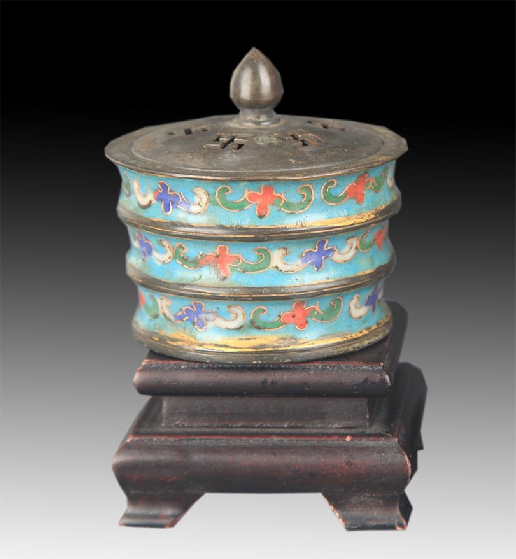 FAIENCE COLOR BAMBOO PATTERN BRONZE AROMATHERAPY