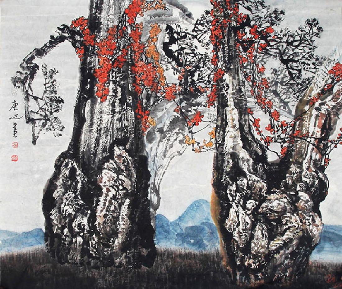BAI QING YAN, CHINESE PAINTING ATTRIBUTED TO