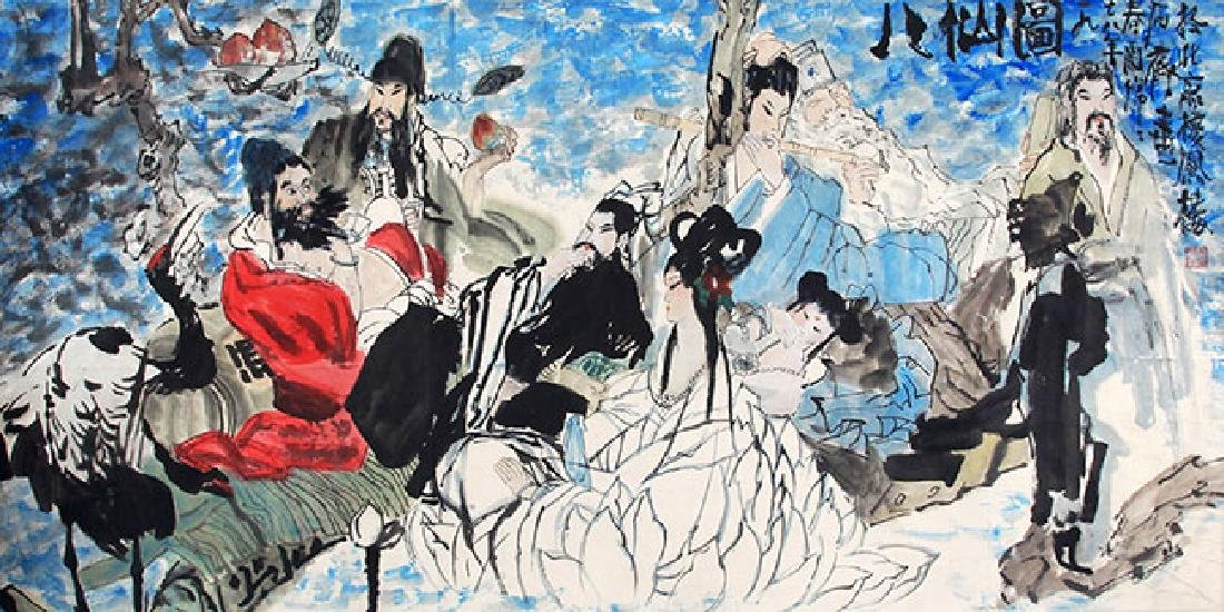SHI QI,CHINESE PAINTING ATTRIBUTED TO