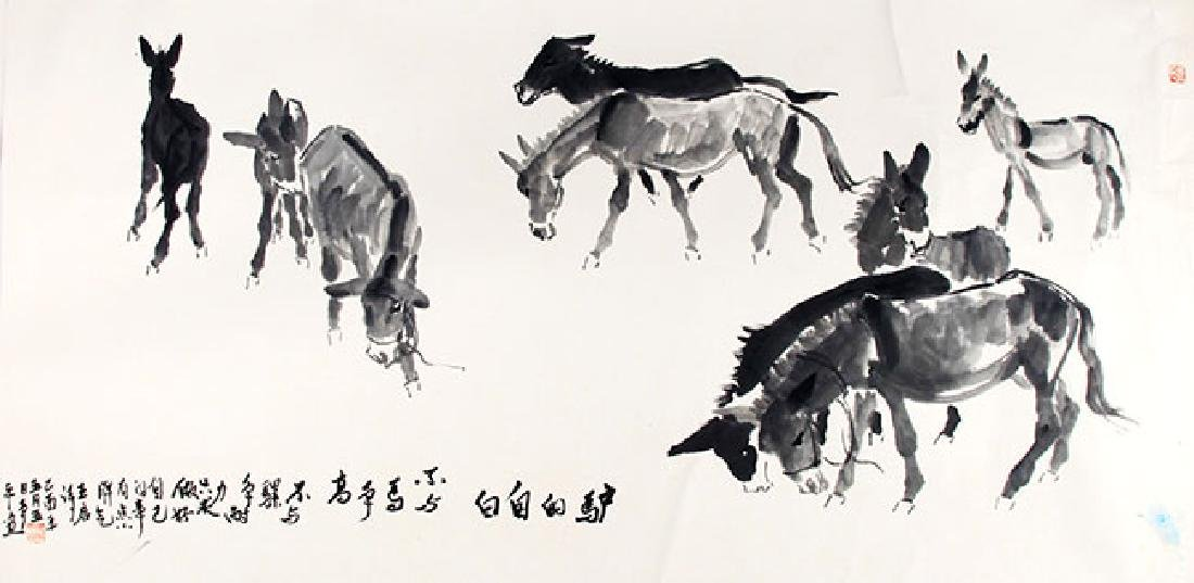 ZHANG ZHEN PING,CHINESE PAINTING ATTRIBUTED TO