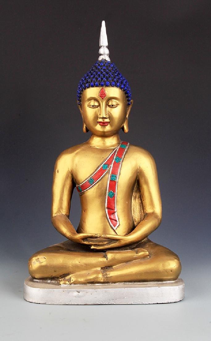 TIBETAN BUDDHISM TANTRIC BUDDHA FIGURE