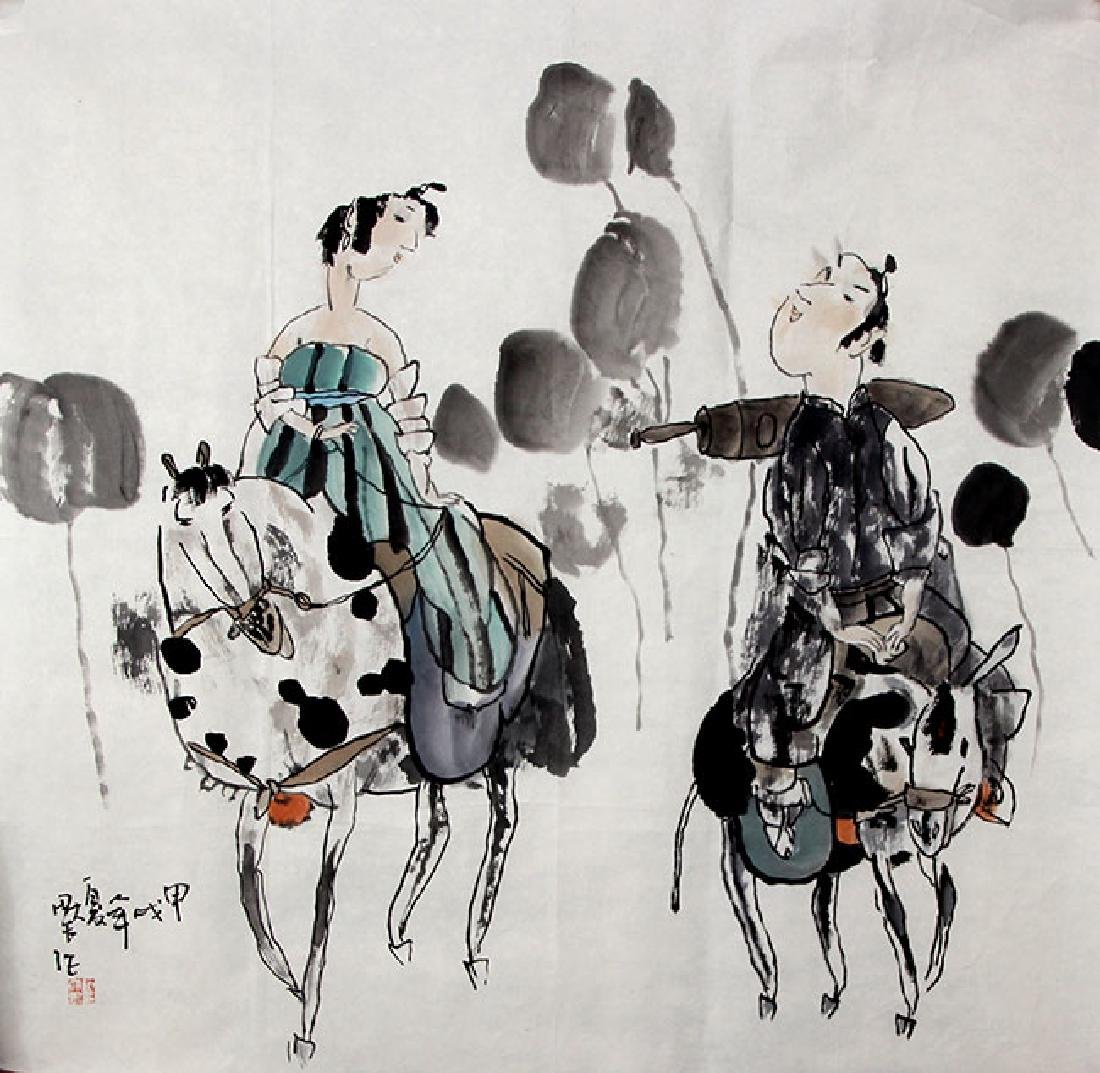 SHI DA WEI,CHINESE PAINTING ATTRIBUTED TO