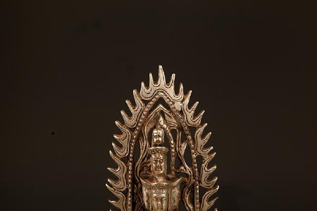A FINE TIBETAN THOUSAND HAND GUAN YIN BUDDHA - 2