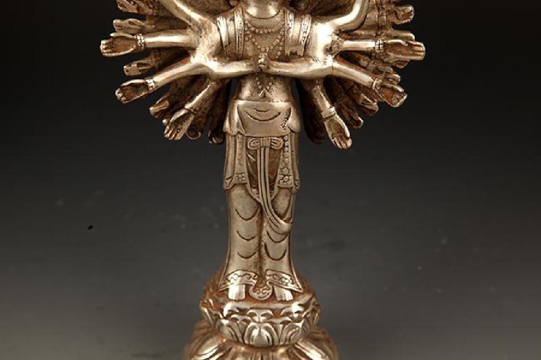 A FINE TIBETAN THOUSAND HAND GUAN YIN BUDDHA - 5