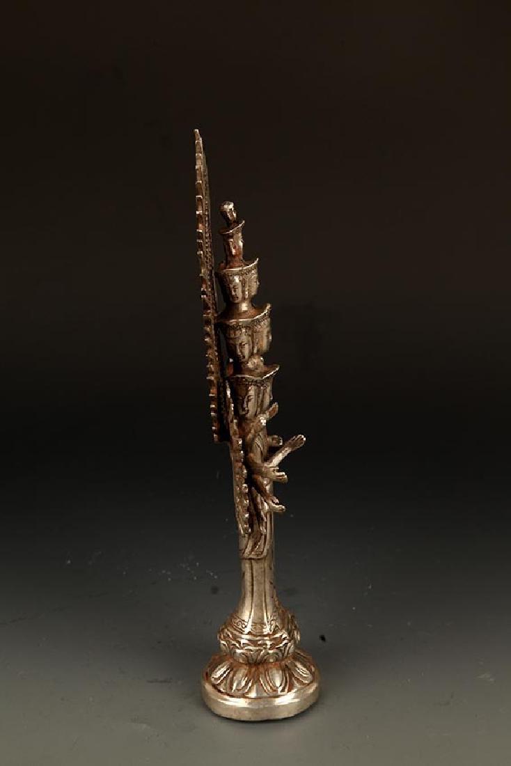 A FINE TIBETAN THOUSAND HAND GUAN YIN BUDDHA - 7